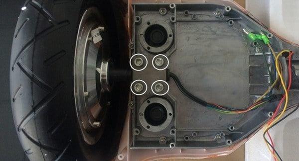 Как правильно снять колесо с гироскутера
